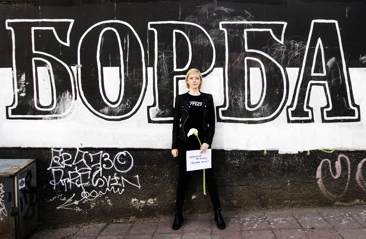 Marija Jovanovic photographed by Susanne Junker in Vracar / Belgrade, March 2019.