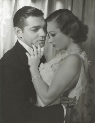 GLAMOUR OF THE GODS : Clark Gable and Joan Crawford for Dancing Lady by George Hurrell, 1933 (National Portrait Gallery)