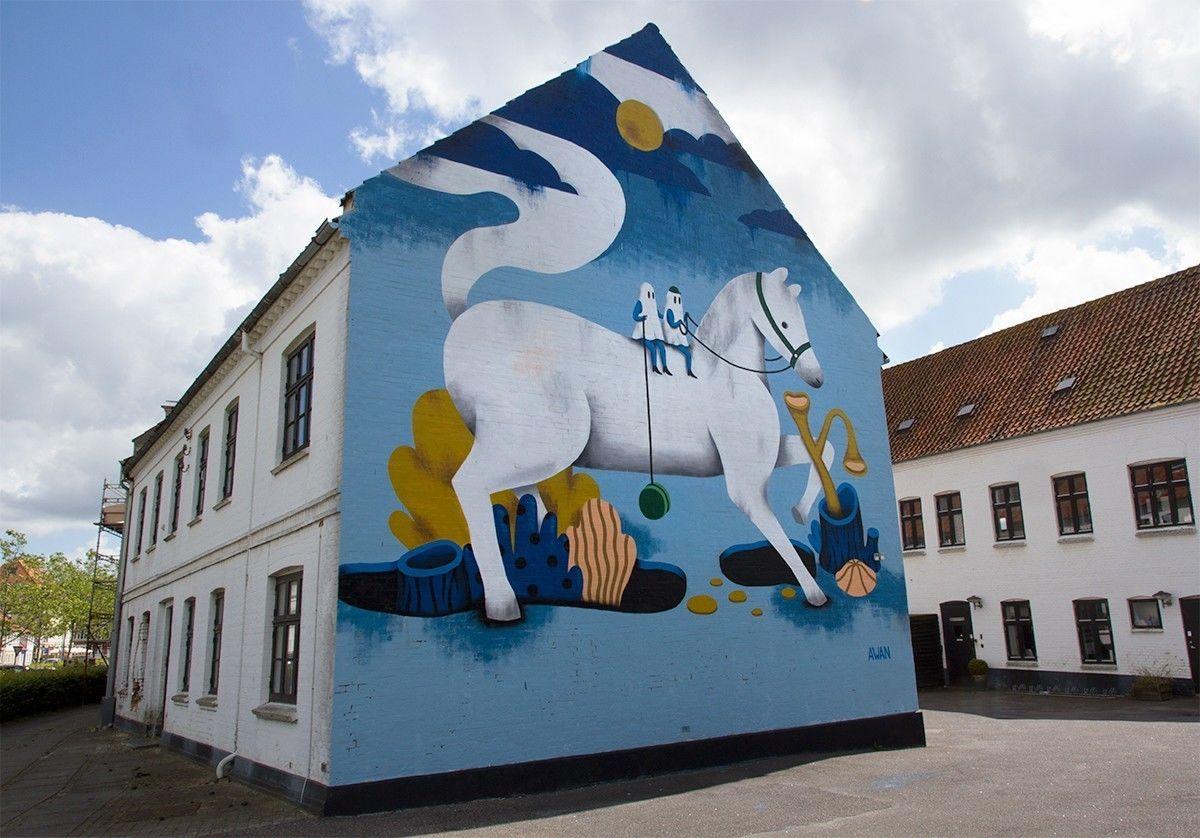 COSMOPOLA |  Illustration Artist Andrea Wan - Public Art Horsens Mural