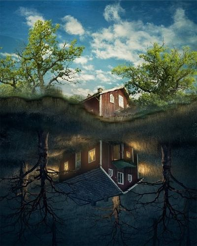 'Up the Past' by Erik Johansson c/o AGENT MOLLY & CO