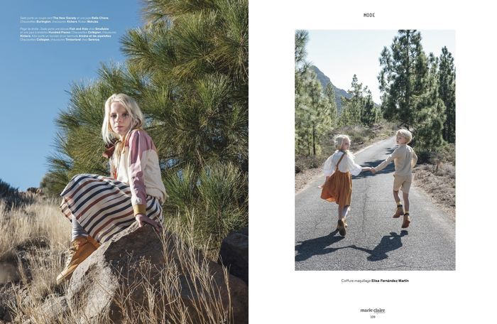 WILDFOX RUNNING: Feli&Pepita for Marie Claire Enfants with 'zaï zaï zaï zaï' on Tenerife