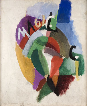 DIE ANDERE SEITE DES MONDES : Sonia Delaunay, Tango Magic City, 1913, Öl auf Leinwand, 55,4 x 46 cm, Kunsthalle Bielefeld, © L&M Services B.V. The Hague 20110604