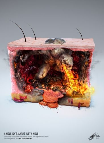 "ANALOG/DIGITAL : Zombie studio for Mollies Fund - ""A mole isn't always just a mole"""
