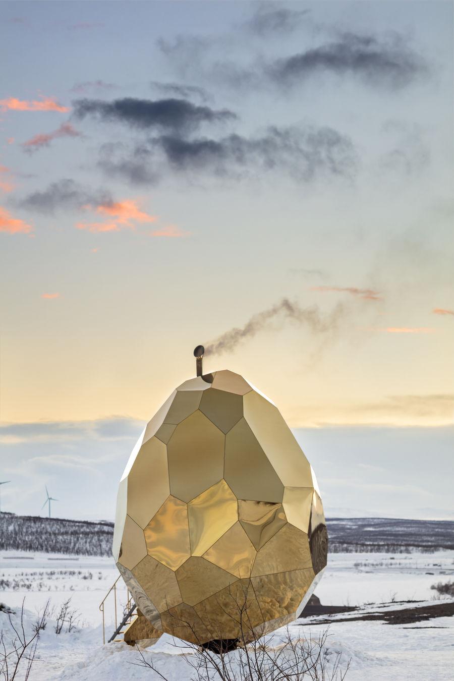 GOSEE SHOP - SOLAR EGG, a public sauna art installation by prizewinning artistic duo Bigert & Bergström