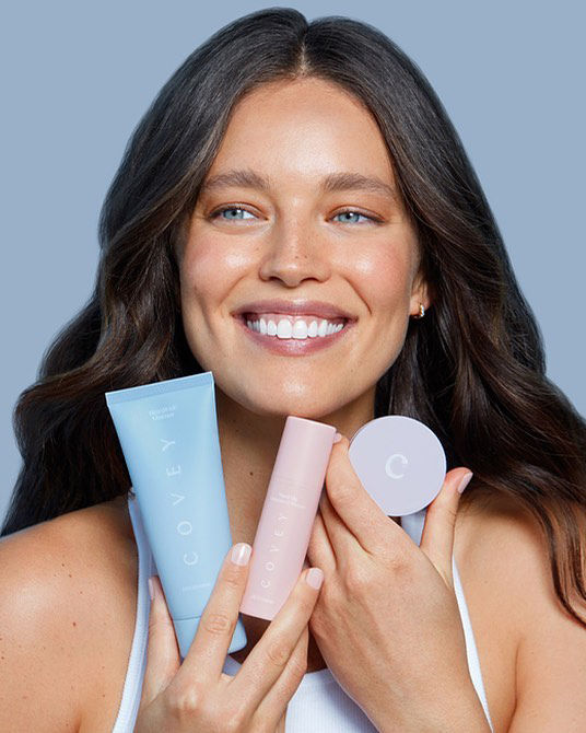 Emily DiDonato for her new skincare line Covey ICONIC