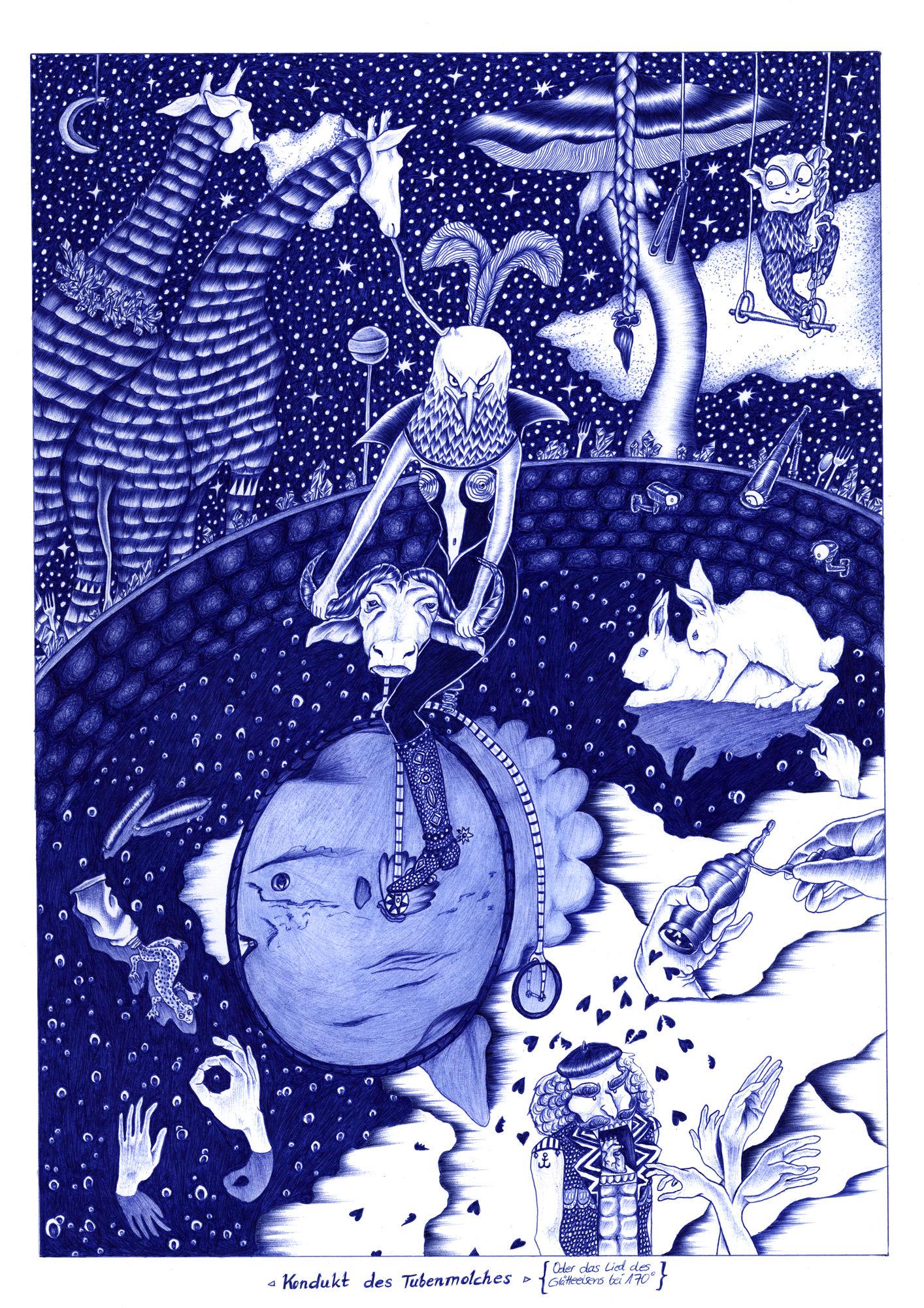 DENISE PETERSEN - Fumetto Comic 2019  - Kondukt des Tubenmolches (Oder das Lied des Glätteeisens bei 170 Grad)