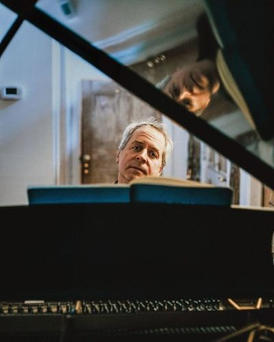 Christaan Felber c/o GIANT ARTISTS photographed pianist Jeremy Denk from a distance at his home in the Catskills for The New Yorker