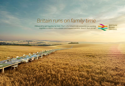 'Britain runs on rail' TODD ANTONY for Rail Delivery Group / UK (M&C Saatchi London)