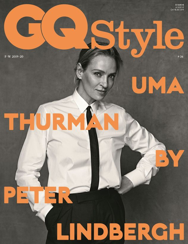 Uma Thurman by Peter Lindbergh for GQ Germany