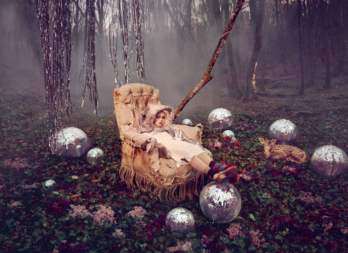 Coco Amardeil c/oPHOTOBY&CO - 'Disco Forest' for Hooligans Magazine