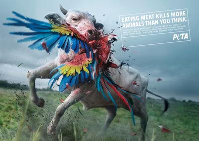 "Analog/Digital & Illusion for PETA - ""The Killer Cows"""