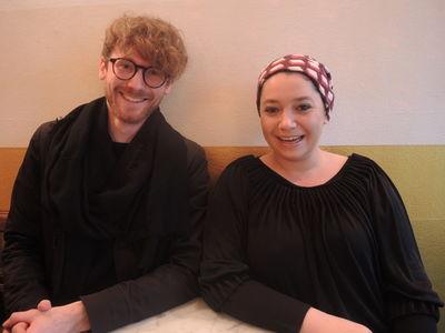 Dirk Biotto (Designer) & Isabel Bernheimer (Bernheimer Contemporary) at marsil