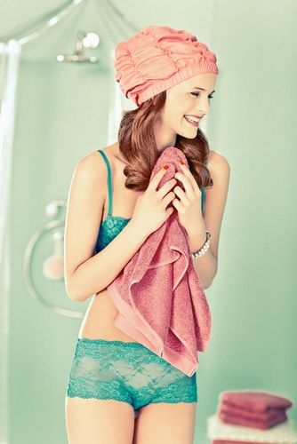 """ESTHER HAASE for VANITY FAIR ITALY """"COLORFUL LINGERIE"""""""