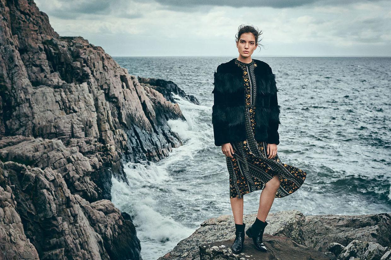 Vero moda hw 18 19 kampagne vor nordischer gezeitenkulisse vor der
