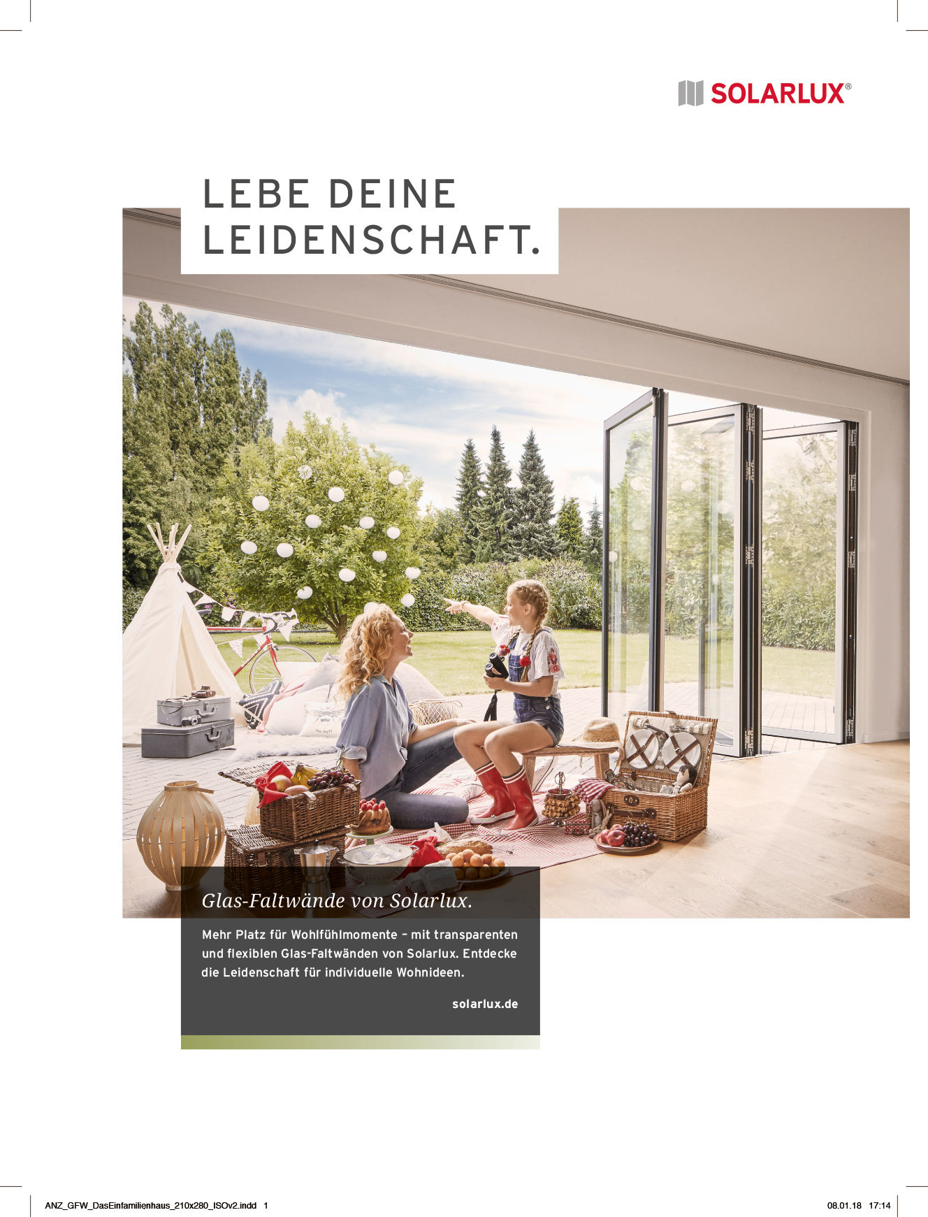 D. & A. Plattner GBR / fashion-styling and interior-design for Solarlux GmbH campaign: Lebe deine Leidenschaft.