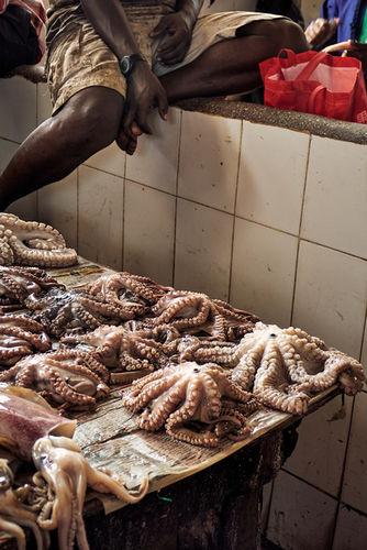 Market hall in Stonetown, Zanzibar