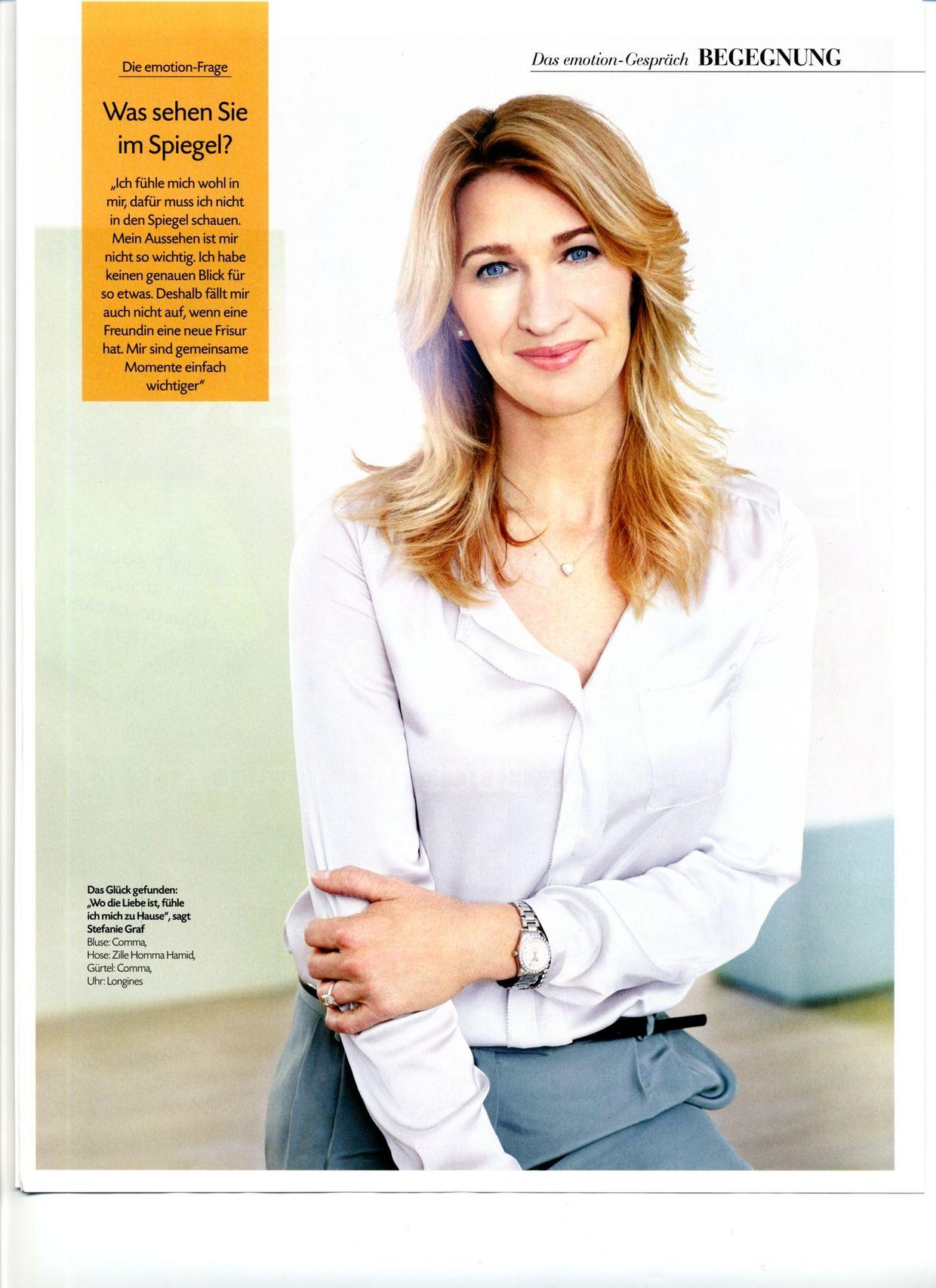 EMOTION dedicates cover story to Stefanie Maria Steffi Graf