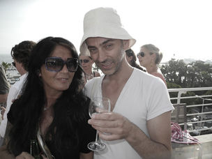 CANNES 2011 : MARKENFILM - sundowner with Esther Kurle / DBC and Cyrus C. Halabian / GoSee