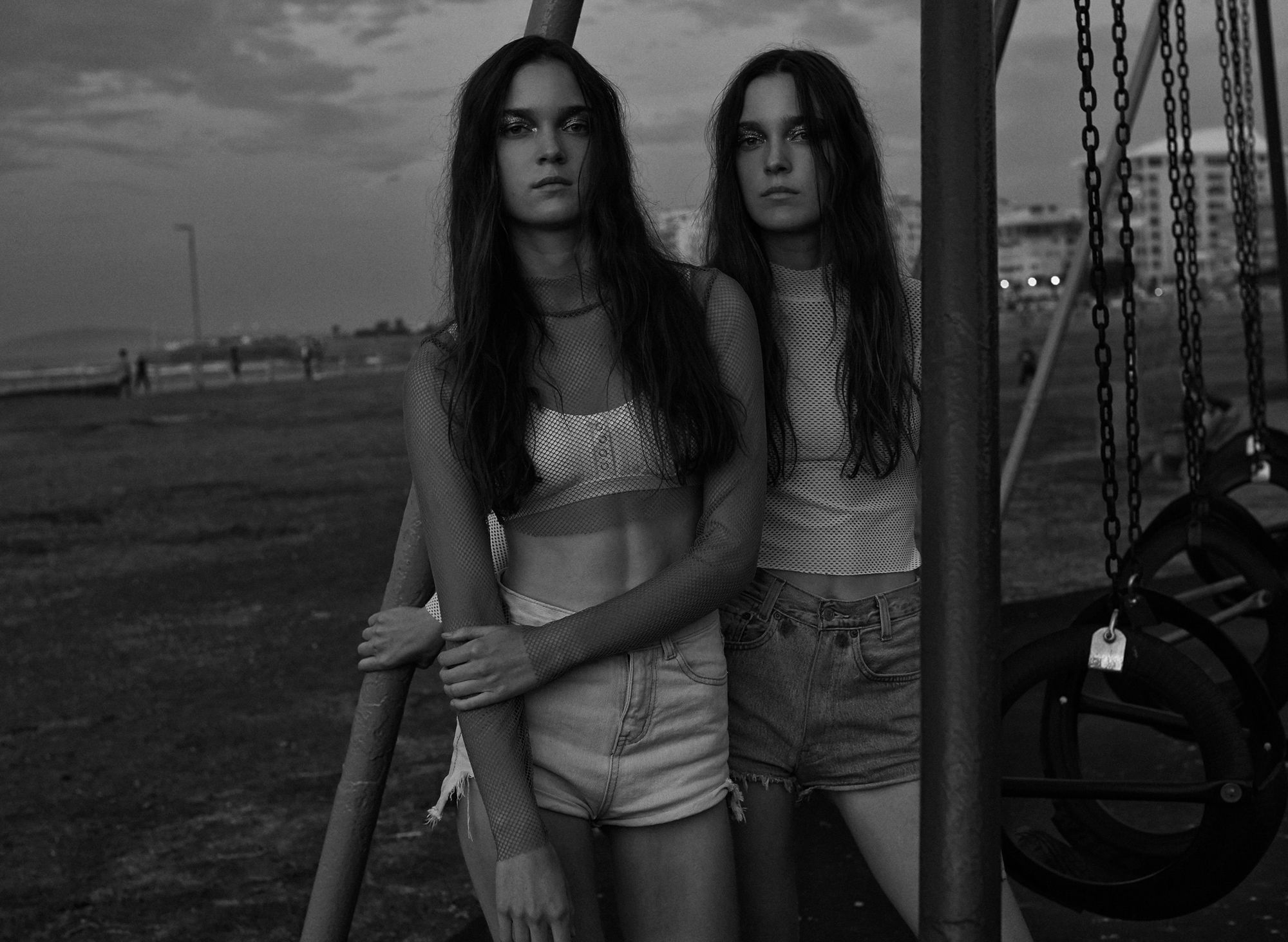 'THE DENIM TWINS' by ROGER WEBER