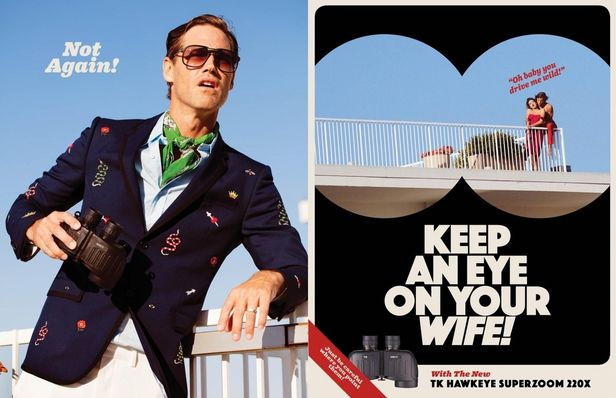 COSMOPOLA Artist Tony Kelly for Ramp Space - 60's Ad Campaign
