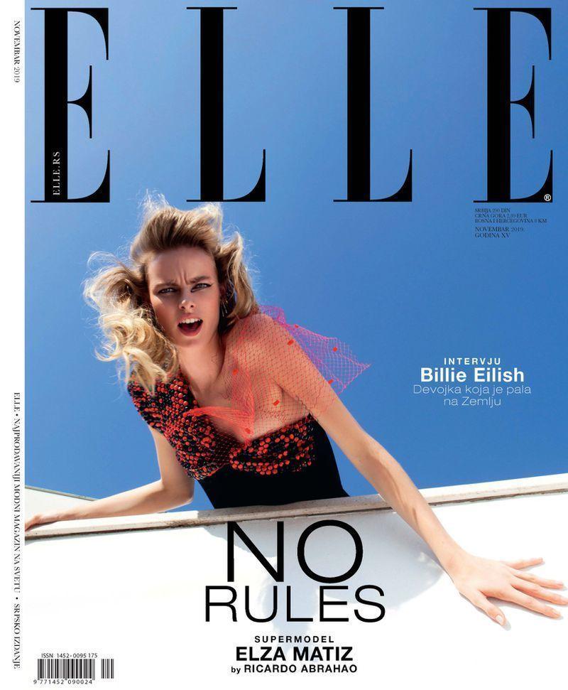 Elza for Elle Serbia shot by Ricardo Abrann