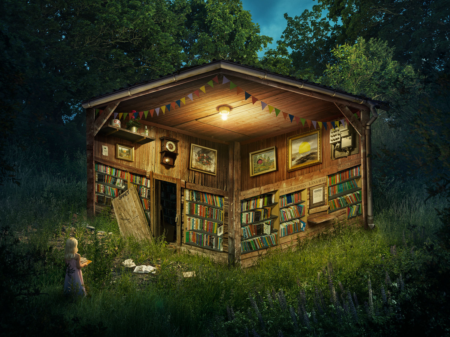 'The Forest Library' by Erik Johansson c/o AGENT MOLLY & CO