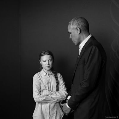 ANDREA HEBERGER GMBH & Greta Thunberg and Barack Obama