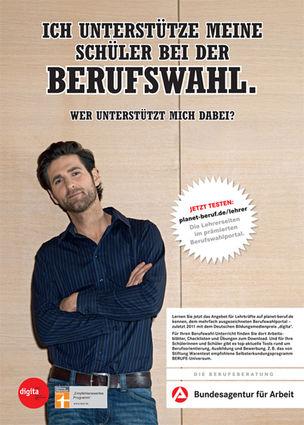 KOMBINATROTWEISS : Peter HUNDERT for BUNDESAGENTUR FUER ARBEIT