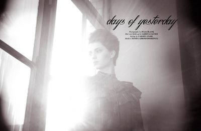 days of yesterday-Editorial for Papercut Magazine