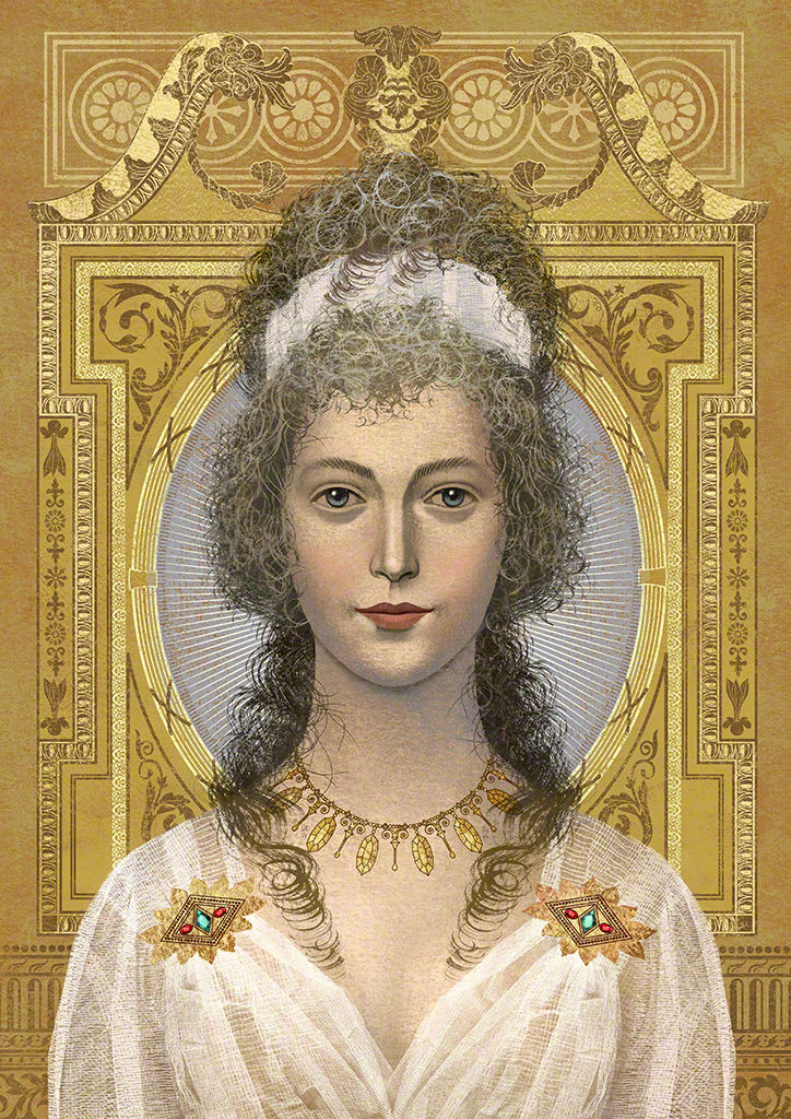 BALBUSSO TWINS Lady Castlereagh -  portrait for the book The History of the Merrion Hotel, Design HQ, Ireland