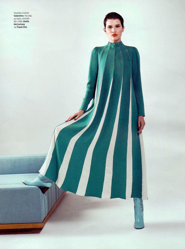 Fernanda Beuker for Harpers Bazaar Brazil shot by Bob Wolfenson