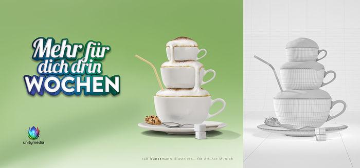 3D Vizualisation/Illustration for TBWA Düsseldorf • RALF KUNSTMANN ILLUSTRIERT...