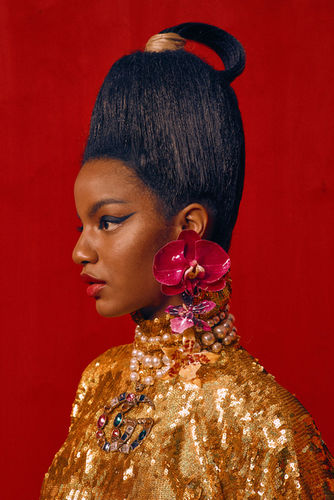 """Micaiah Carter c/o GIANT ARTISTS photographed a blazing fashion editorial entitled """"The Marriage"""" for Paper Magazine"""