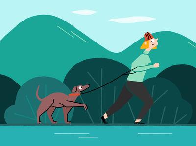 JSR AGENCY - Tiffany Beucher - Runner and her Dog
