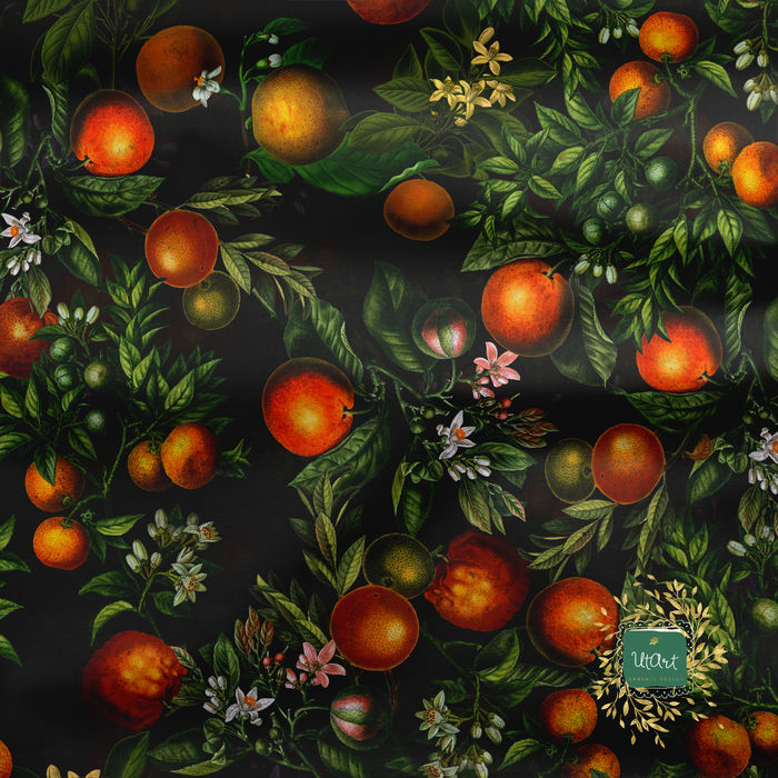 Antique Tropical Fruits Pattern