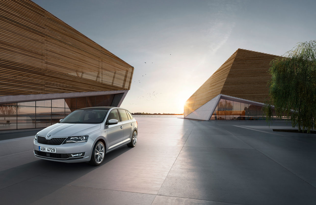 CGI location for Skoda Clever range