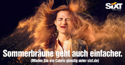LIGANORD HAMBURG/BERLIN: Rebecca J. Herrmann / Hair Make-up & Special Effects für die Sixt Cabrio Kampagne