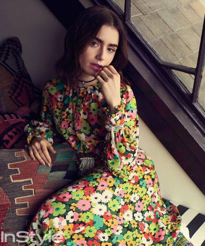 Lily Collins for INSTYLE by Todd Cole c/o GIANT ARTISTS