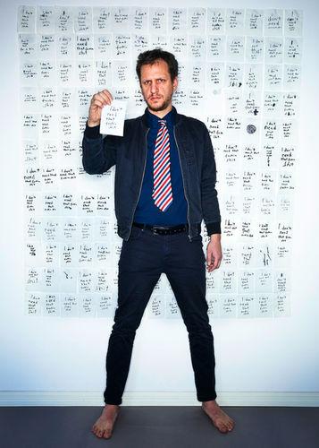 MANU AGAH photographs 'THE TOIPAPER PROJECT' - FYNN STEINER - artist and musician