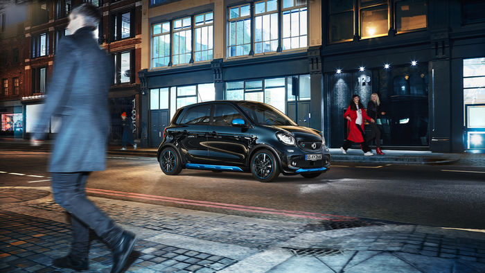 The new Smart EQ by Marc Trautmann shot in London Shoreditch