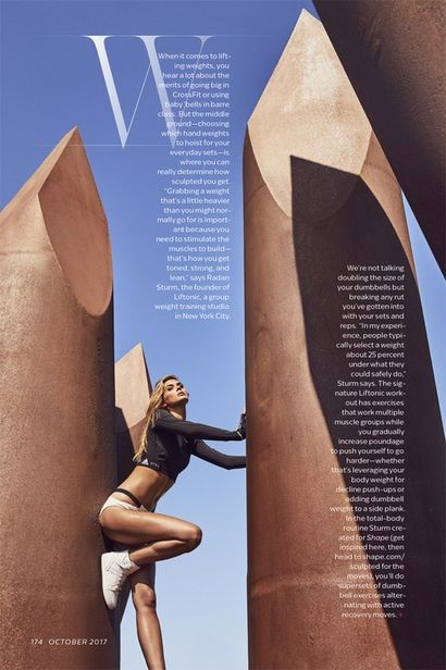 Megan Williams for Shape Magazine shot by Dean Isidro