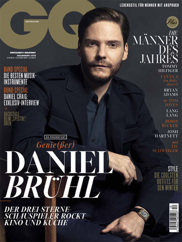 BLOSSOM MANAGEMENTStephan Schmied (Grooming) for Daniel Brühl and GQ