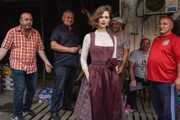 STEPHAN GLATHE for Kinga Mathé Dirndl Campaign in Tiflis