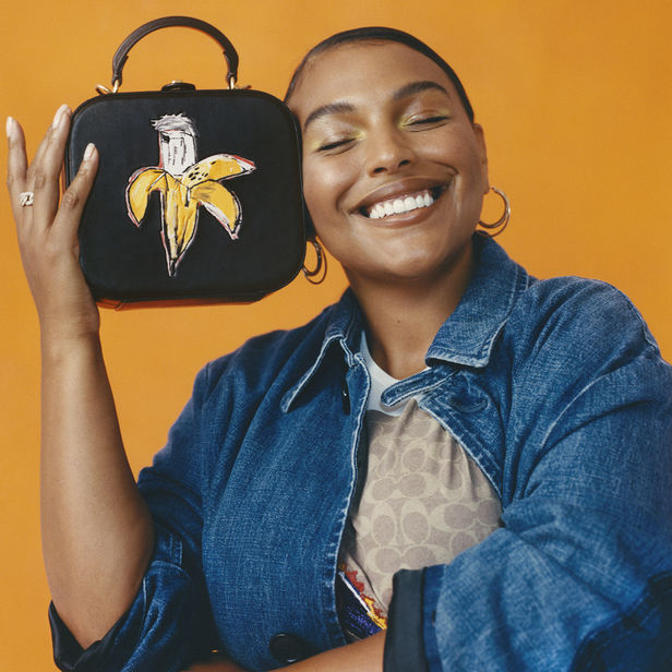 GIANT ARTISTS : Ayinde Anderson teamed up with Micaiah Carter to capture the iconic COACH x Jean-Michel Basquiat collection with Jennifer Lopez, Michael B. Jordan, Jon Batiste, Diana Gordon, Paloma Elsesser, Jessica Kelly, and Kyemah McEntyre.