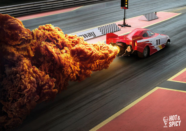 """Illusion c/o PHOTOBY&CO  for KFC """"Hot & Spicy"""""""