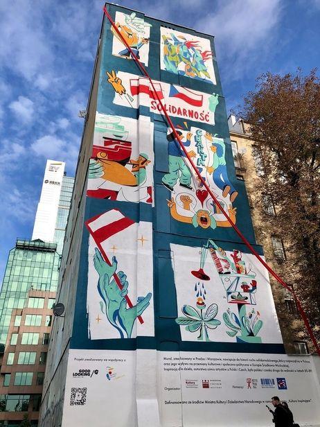 'Wall of Culture' mural by Karol Banach c/o JSR AGENCY