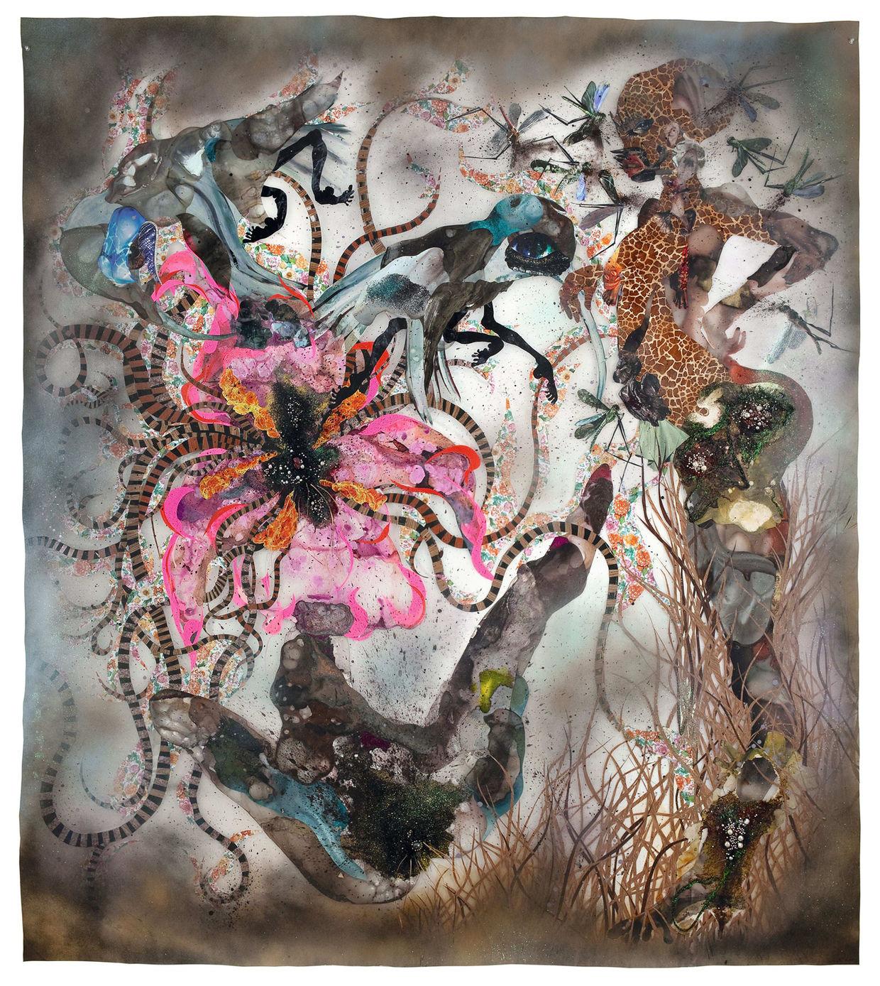 SOLCH UNGEAHNTE TIEFEN by Wangechi Mutu (Staatliche Kunsthalle Baden-Baden)