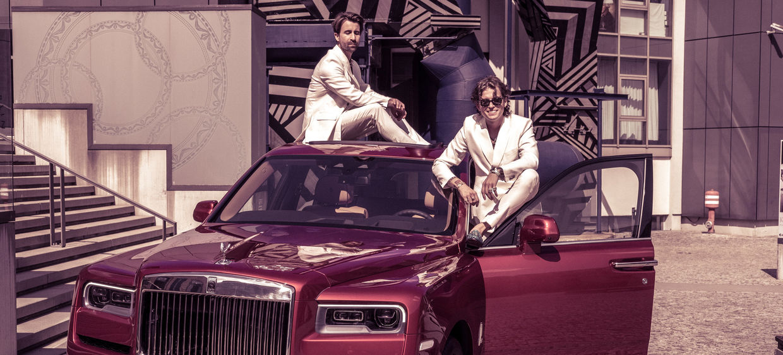 DENIZ SAYLAN photographs the new Rolls Royce Cullinan with the Dandy Diaries in Berlin at KPM