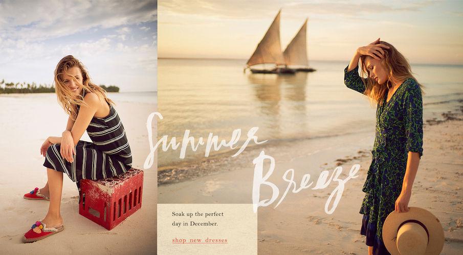 BAKER KENT for Anthropologie & photographer Nathan Copan in Zanzibar