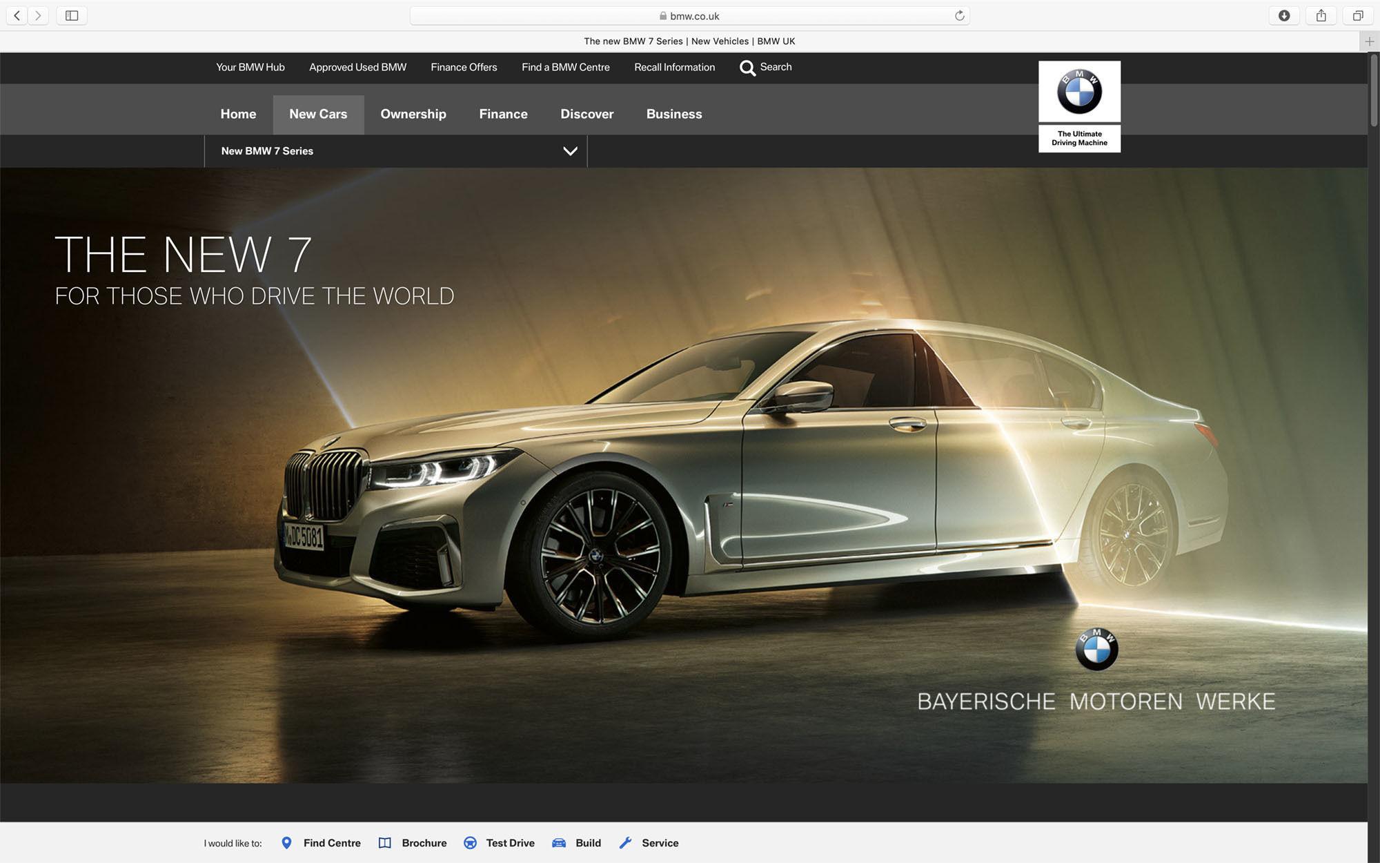 RECOM CGI : BMW 7er - FULL-CGI Campaign Visuals